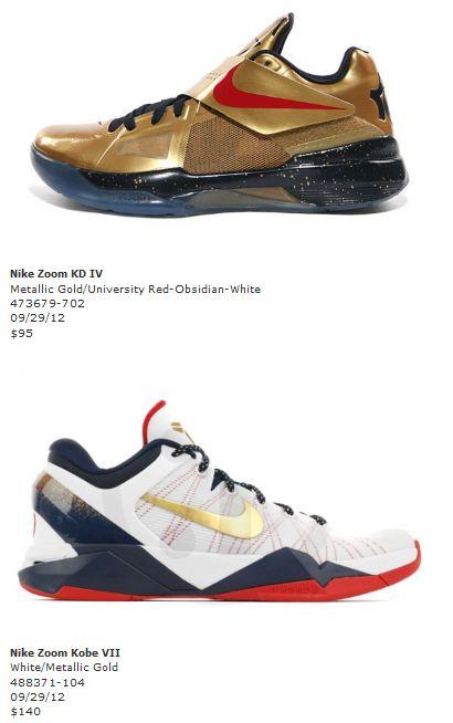 "sale retailer e334c 161ee Nike Basketball ""Gold Medal"" Sneaker Pack Release Date"