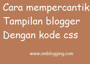 Cara gampang mempercantik blog dengan tambahan css widget