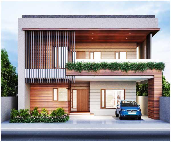 model rumah minimalis 2 lantai tampak depan elegan