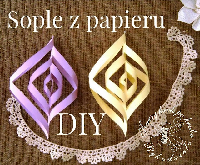 DIY sople z papieru
