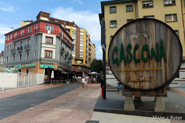 Bulevar de la sidra en Oviedo