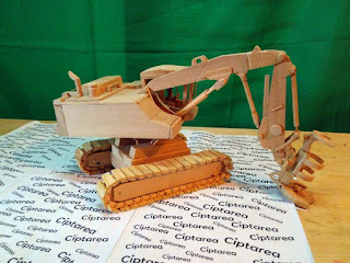 Wooden Miniature Caterpillar Excavator