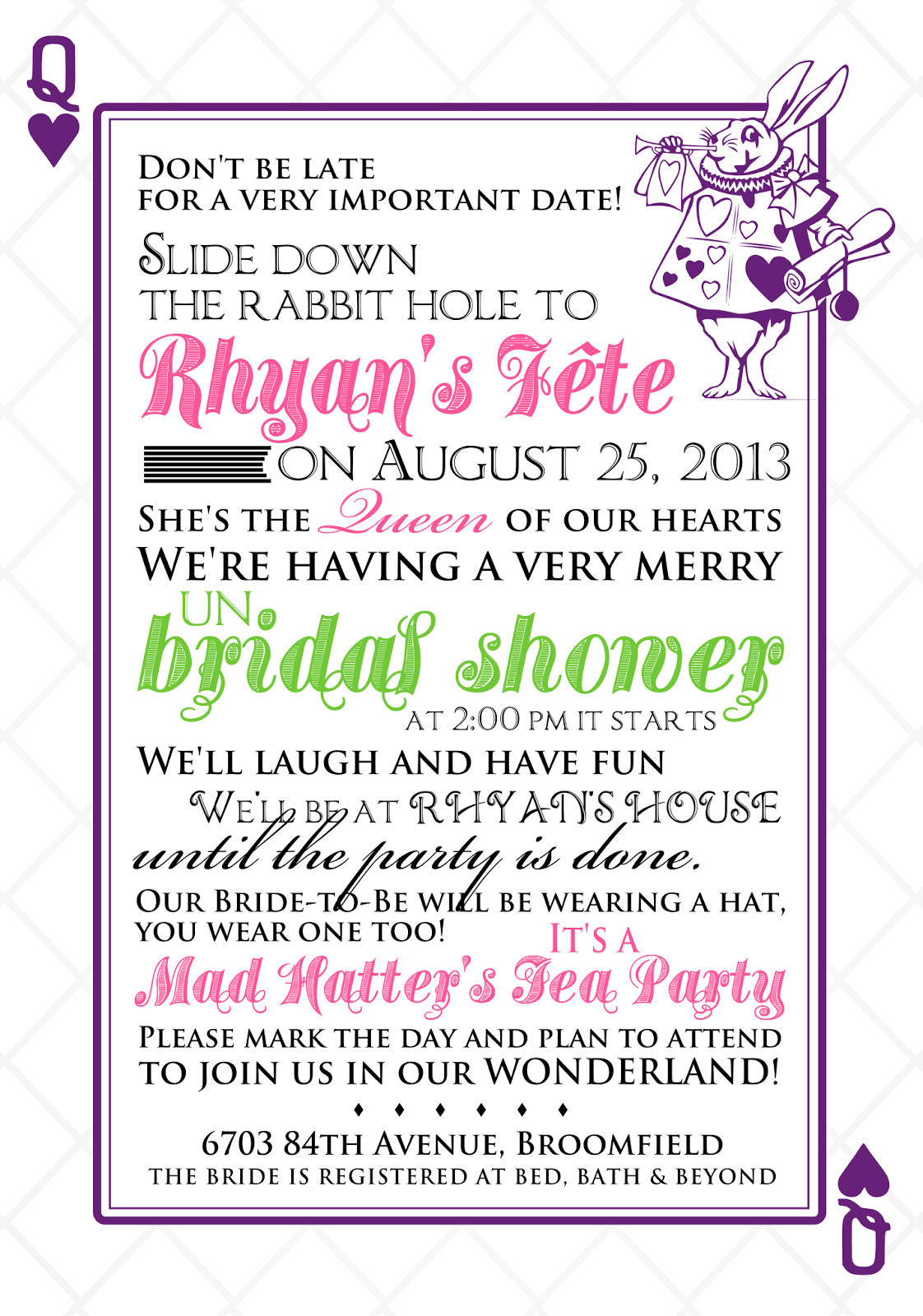 Quirky Bridal Shower Invitations