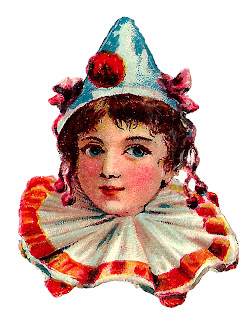 circus clown portrait vintage clipart download