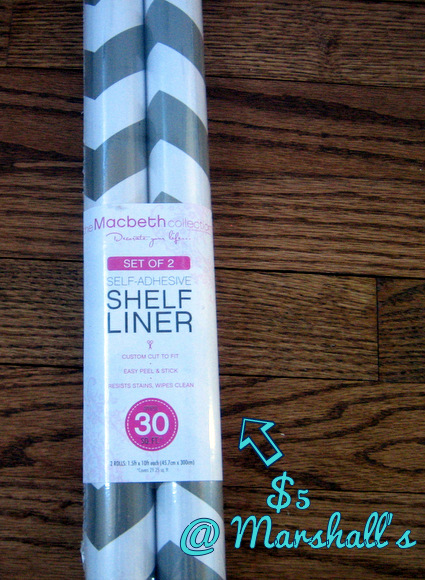 chevron shelf liner