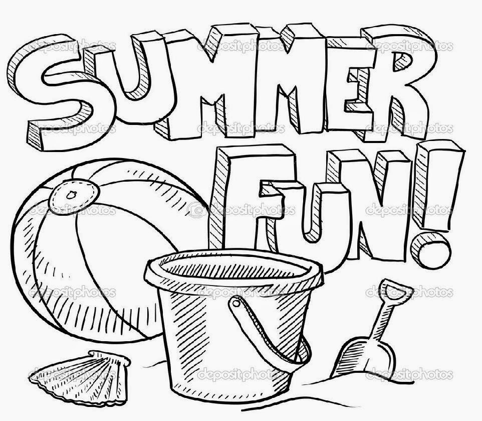 Summer coloring sheets free coloring sheet for Summer vacation coloring pages