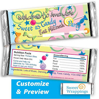 picture of mitzvah candy wrapper