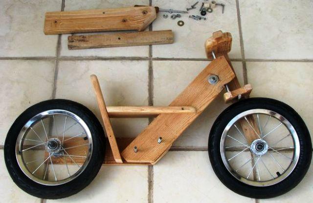 perakitan sepeda kayu half view