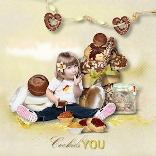 Papeles del Clipart de Galletas y Chocolates.