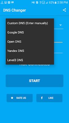 cara mengubah pengaturan DNS di android