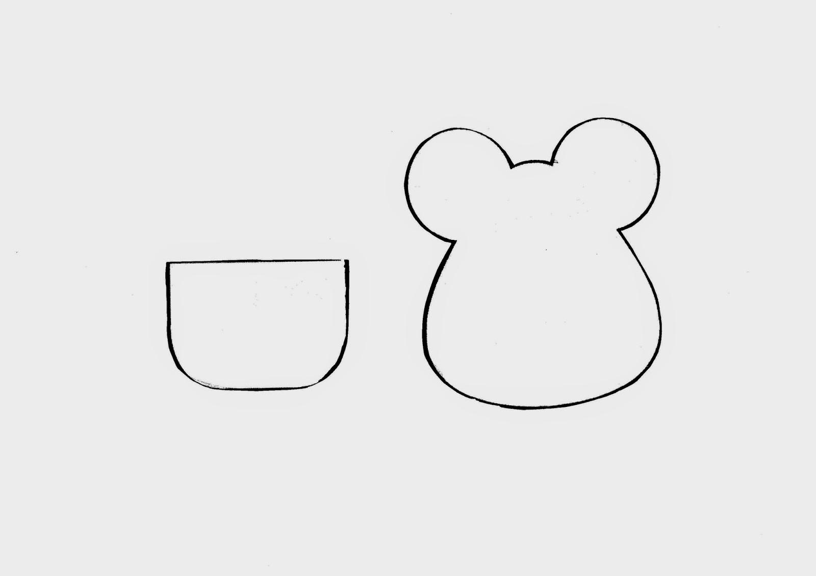 Patrón ratón guardadientes