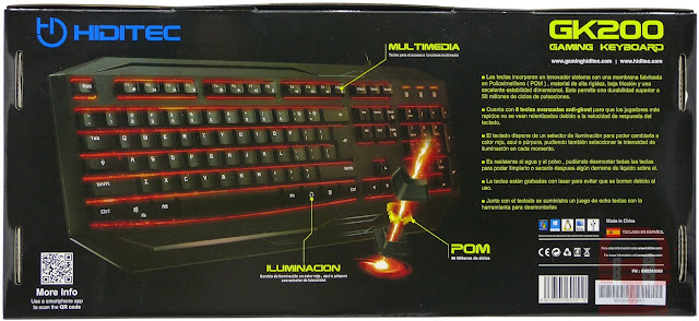 teclado gaming, el mejor teclado gaming, los mejores teclados gaming, teclado gk200, teclado gaming gk200, teclado membrana, teclado retroiluminado, pom, POM, sistema anti-ghost, teclas desmontables