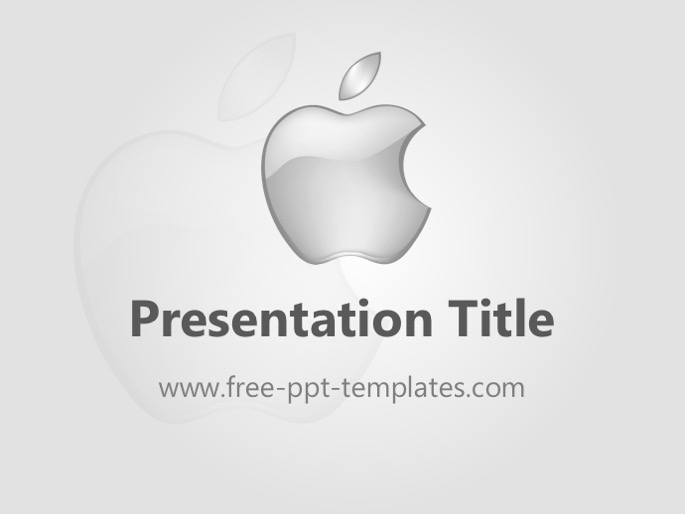 apple ppt template, Modern powerpoint