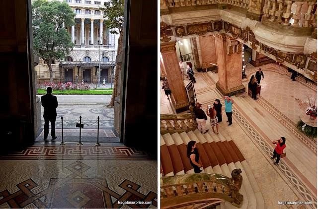 Fachada e Foyer do Theatro Nacional, Rio de Janeiro