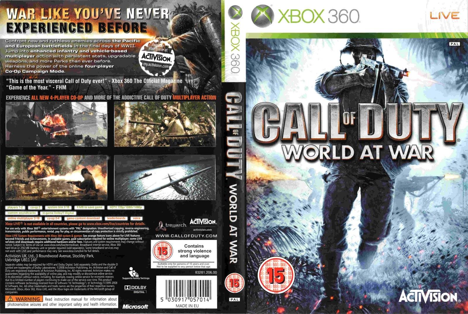 Découvrez toutes les astuces, cheat codes, triches du jeu vidéo Call of Duty : World at War sur Xbox 360 sur GameHope.