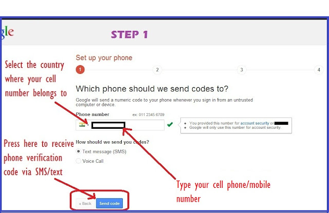 Set up Google SMS Auth