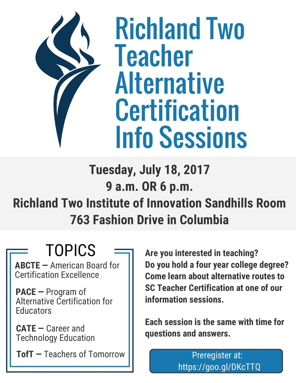At The View Daily Save The Date Alternative Teaching Info Sessions