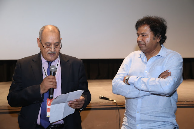 The Moroccan Ambassador H.E. Mr. Mohamed Maliki, Manoj Srivastava, Strategic Consultant Jagran Film Festival