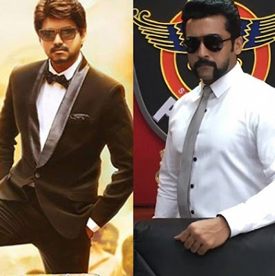 Both Ilayathalapathi  Vijay  Bairava and Surya's Singham 3 Teasers On Same Day
