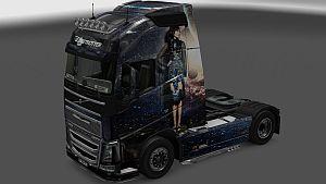 Nargis Fakhr skin for Volvo 2012 & 2013