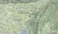 Seven members of one family killed by landslide in Assam State, India. Seven members of a single family have been killed by a landslide that struck their home in the village of Satkoragool in the Karimganj District of Assam State, India, overnight between Friday 9 May and Saturday 10 May 2014. Nobody witnessed the incident, which occurred during heavy rain, but neighbours found that part of a hillside had collapsed onto the home, burying it under a debris heap of mud rocks and trees. The bodies of Lubub Uddin (45), his wife Saina Begam (35). and their five children, aged between two and eleven were all recovered from the site.