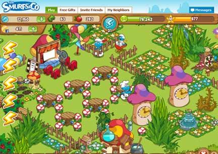 game The Smurfs & Co Social Facebook