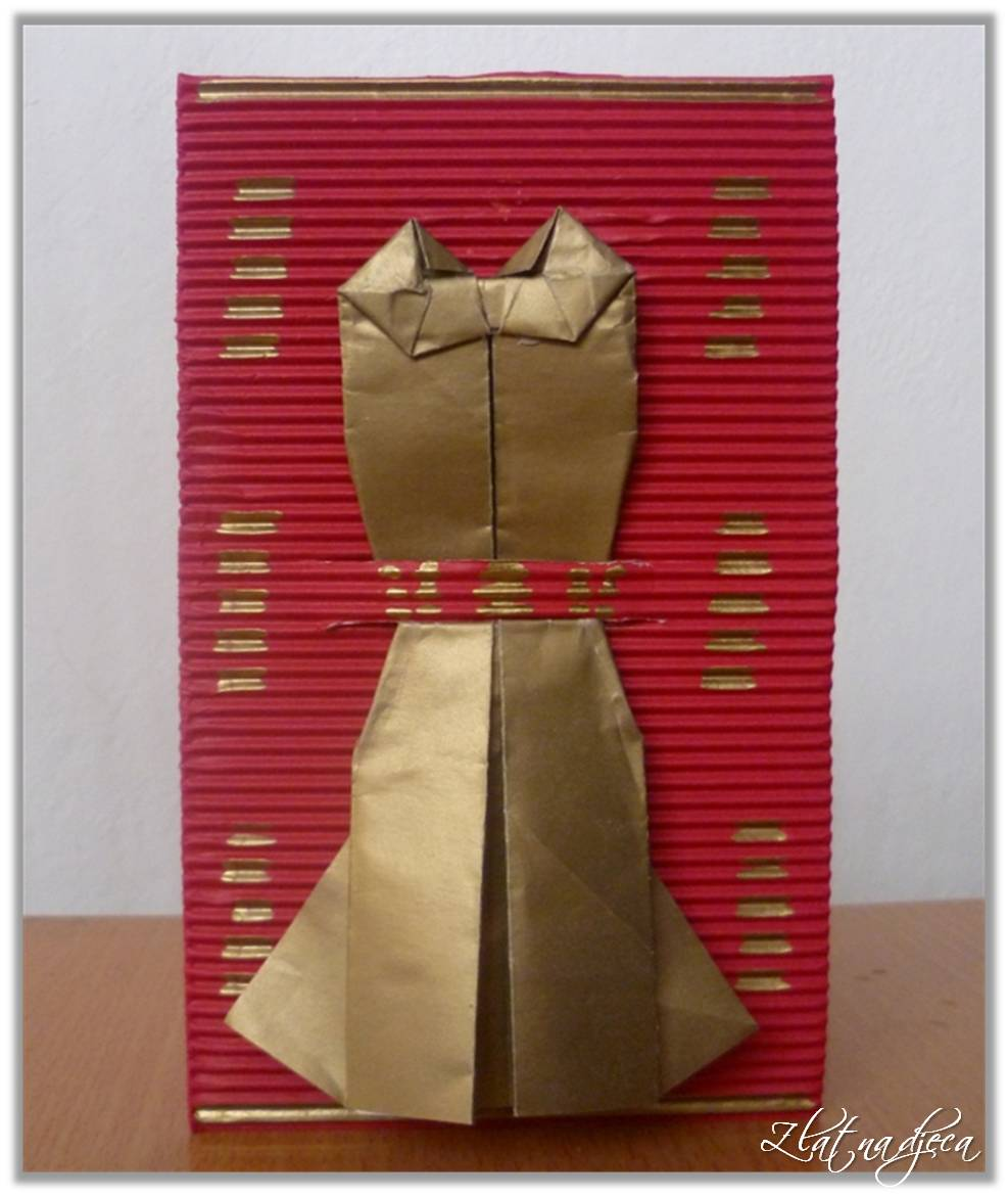 čestitke za majčin dan ideje Zlatna djeca: Čestitka s haljinom   za Majčin dan čestitke za majčin dan ideje
