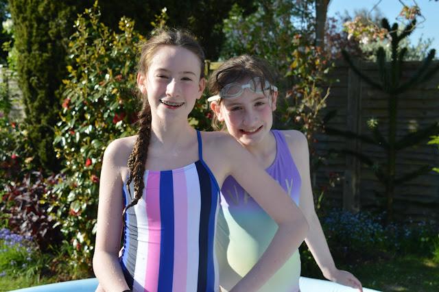 stephs two girls in paddling pool