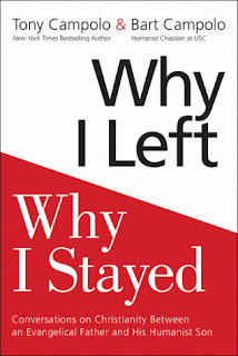 "cover of book ""Why I Left, Why I Stayed"" by Tony Campolo and Bart Campolo."