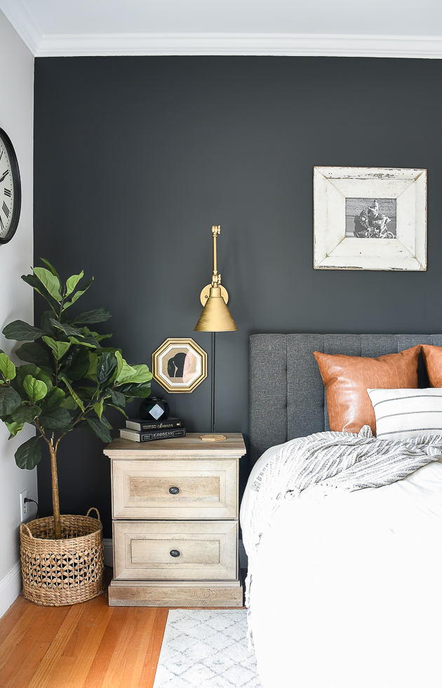 Dark and Moody Modern Farmhouse Bedroom Update | Little House of ...