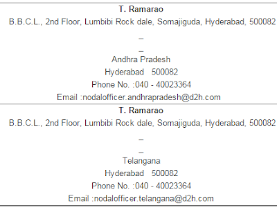 Videocon d2h Telangana and andhra pradesh Nodal Office image