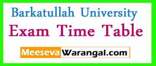 Barkatullah University M.Pharm 1st Sem/ B.Lib.1 Sc.Reg/ Supply Feb 2017 Exam Time Table