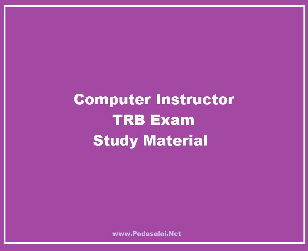 Trb Study Materials Pdf