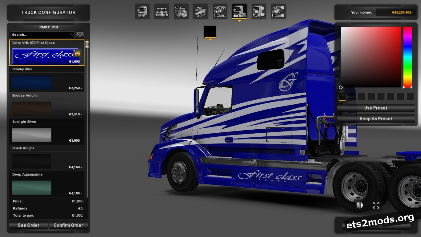First Class Skin for Volvo VNL 670