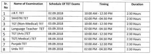 image : HP TET 2018 Exam Schedule September 2018 @ TeachMatters
