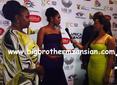 Mbali Nkosi Interviews terry pheto At Ayanda Movie Premiere