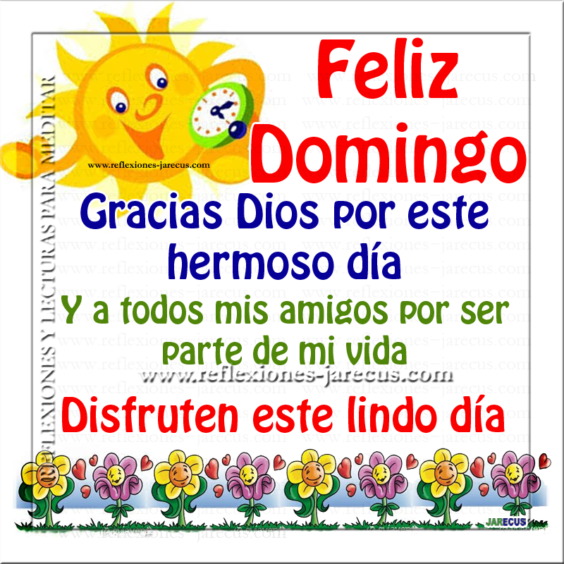Feliz domingo Gracias Dios por este hermoso día. Y a todos mis amigos por ser parte de mi vida. Disfruten este lindo día