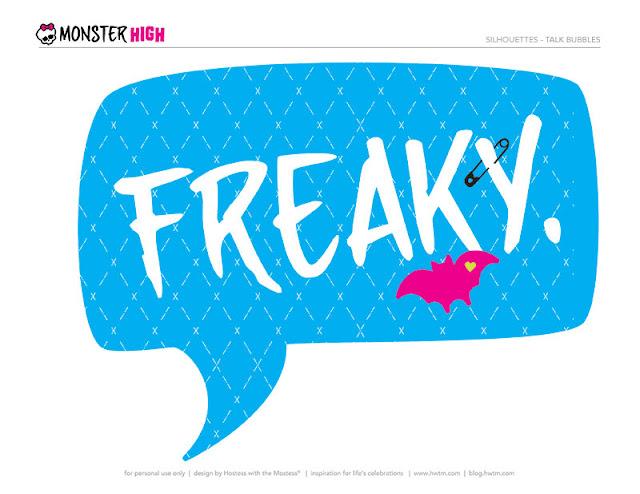 Toppers o Etiquetas de  Monster High  para imprimir gratis