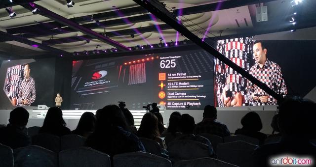 Presentasi kehebatan CPU Qualcomm 625 oleh Shannedy Ong selaku Country Director Qualcomm Indonesia