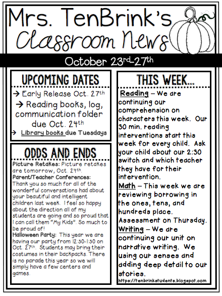 Week 8 Newsletter & Last Week Pics!