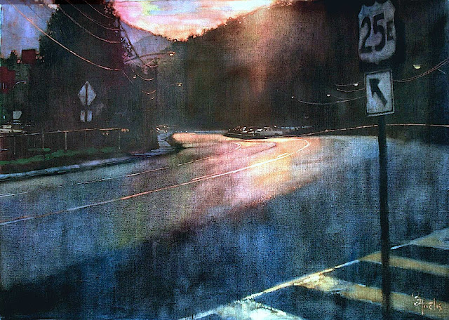 Bernie Fuchs, sunset road