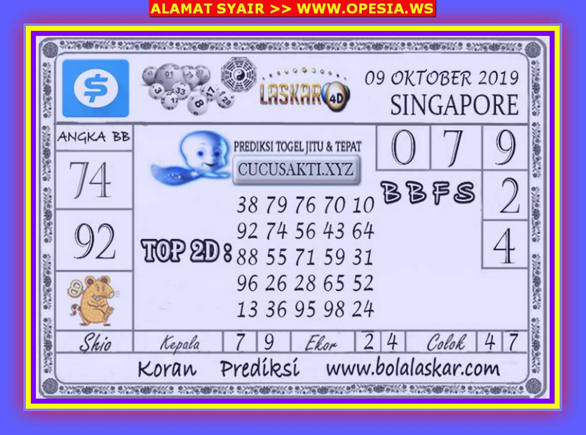 Kode syair Singapore Rabu 9 Oktober 2019 45