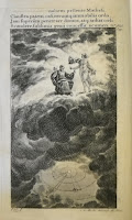 A full page illustration of two figures in the clouds.