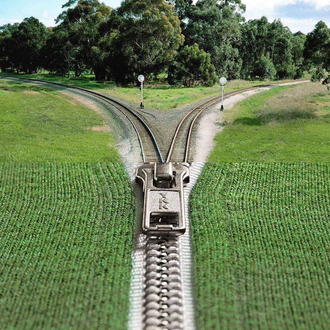01-Train-Tracks-Zipper-Stephen-McMennamy-Two-Photographs-Joined-to-Make-a-Scene-www-designstack-co