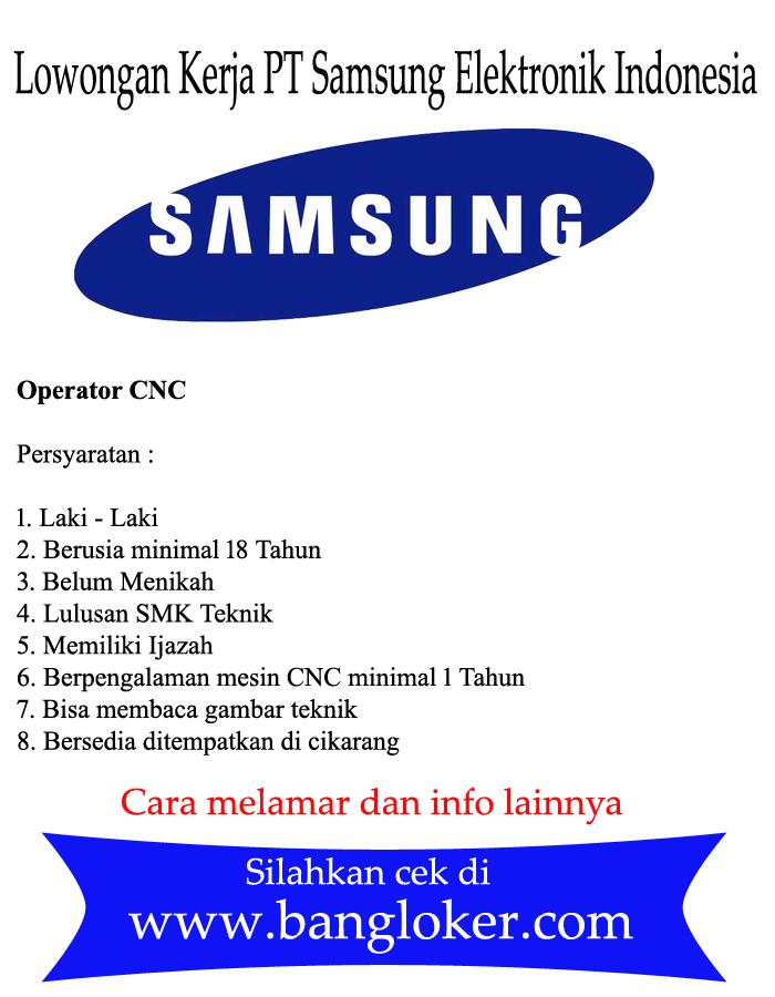 Lowongan Kerja Pt Samsung Elektronik Indonesia Sein Terbaru