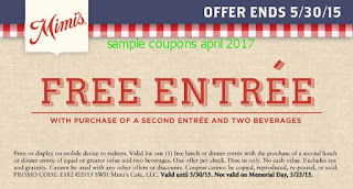 Mimis Cafe coupons april 2017