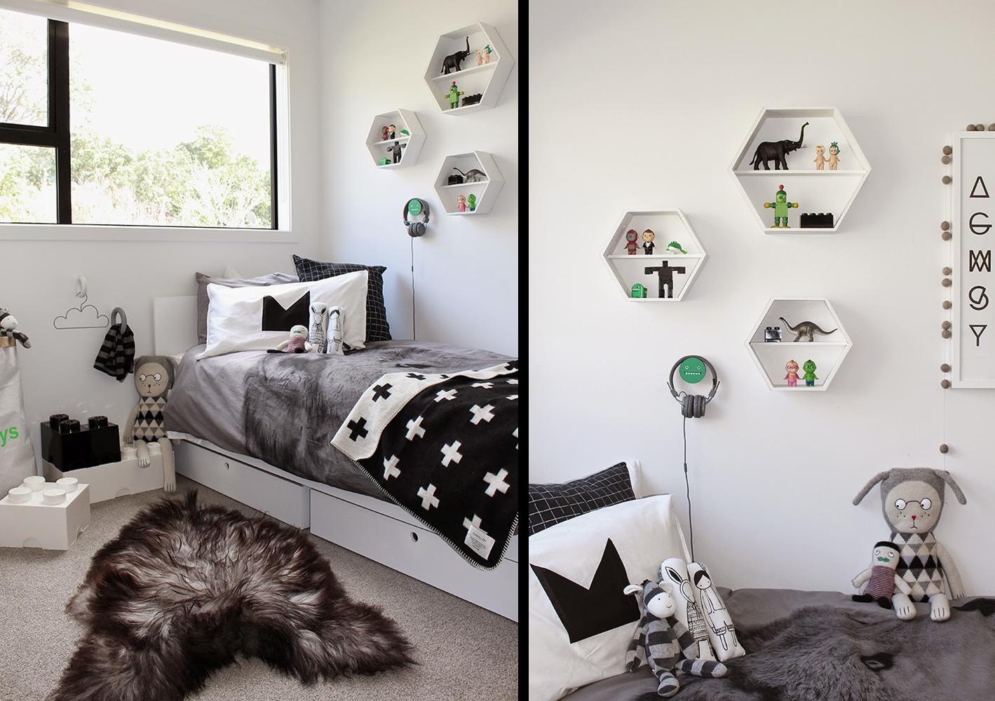 Habitaciones en blanco y negro gointeriorismo - Habitaciones en blanco ...