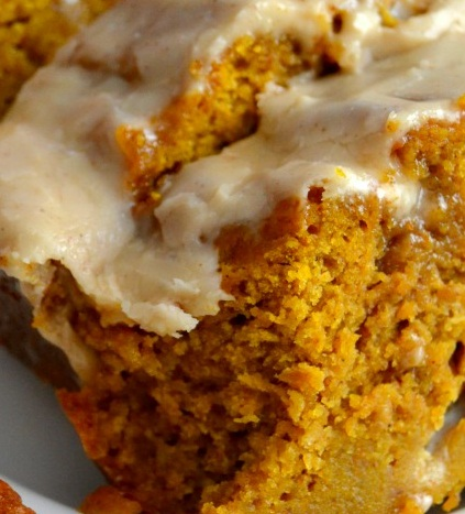 The BEST Pumpkin Bread with Brown Butter Maple Icing | FOOD AND COOK