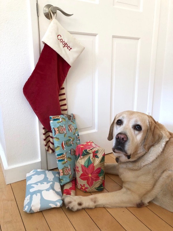 Labrador Christmas stocking presents