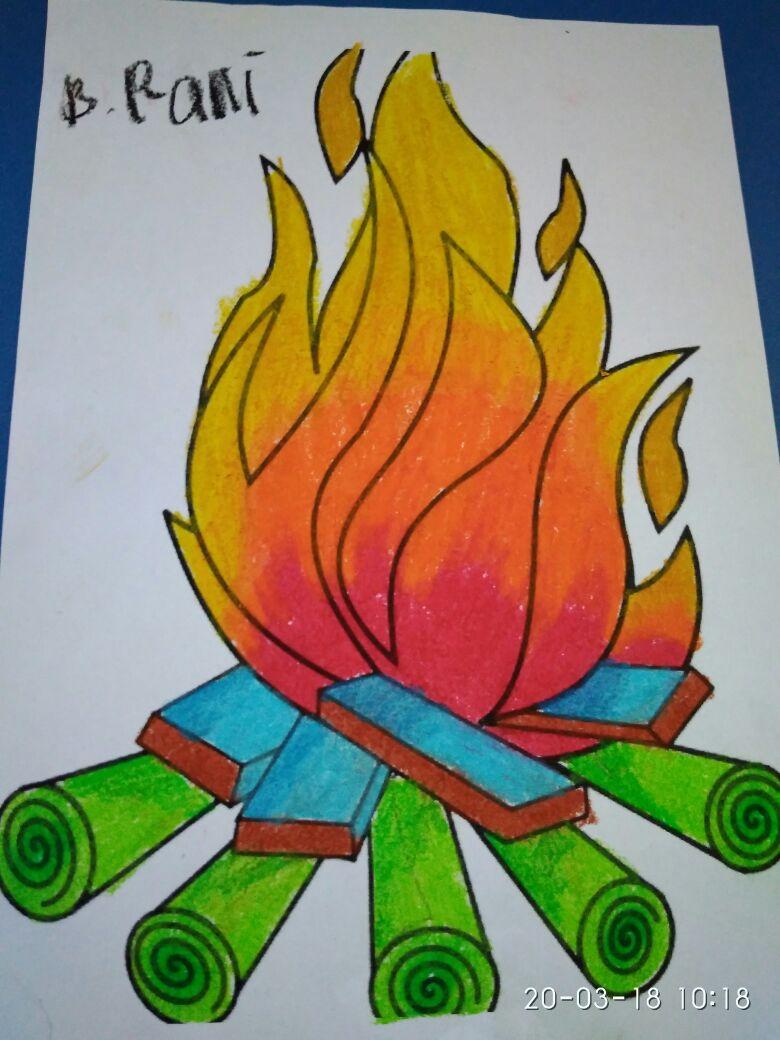 "Paud Juara Tangerang Selatan Gradasi Warna ""Api Unggun"""
